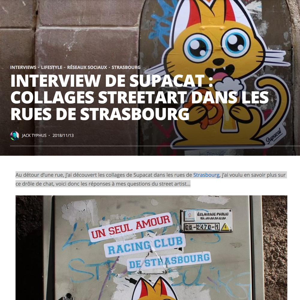 Interview de Supacat par le Blog Kapoué - Supacat Street Art