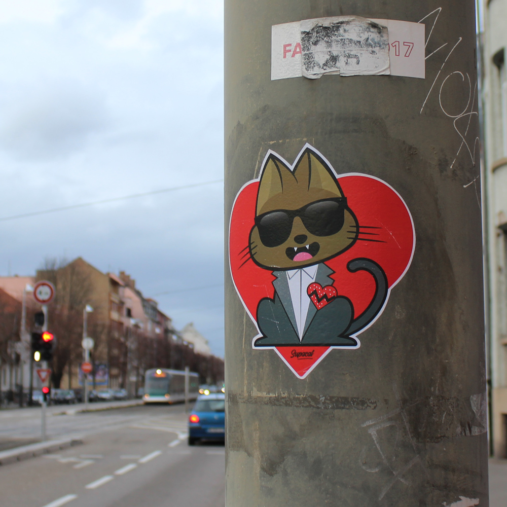 Supa K.West 808s & Heartbreak - Supacat Street Art à Strasbourg