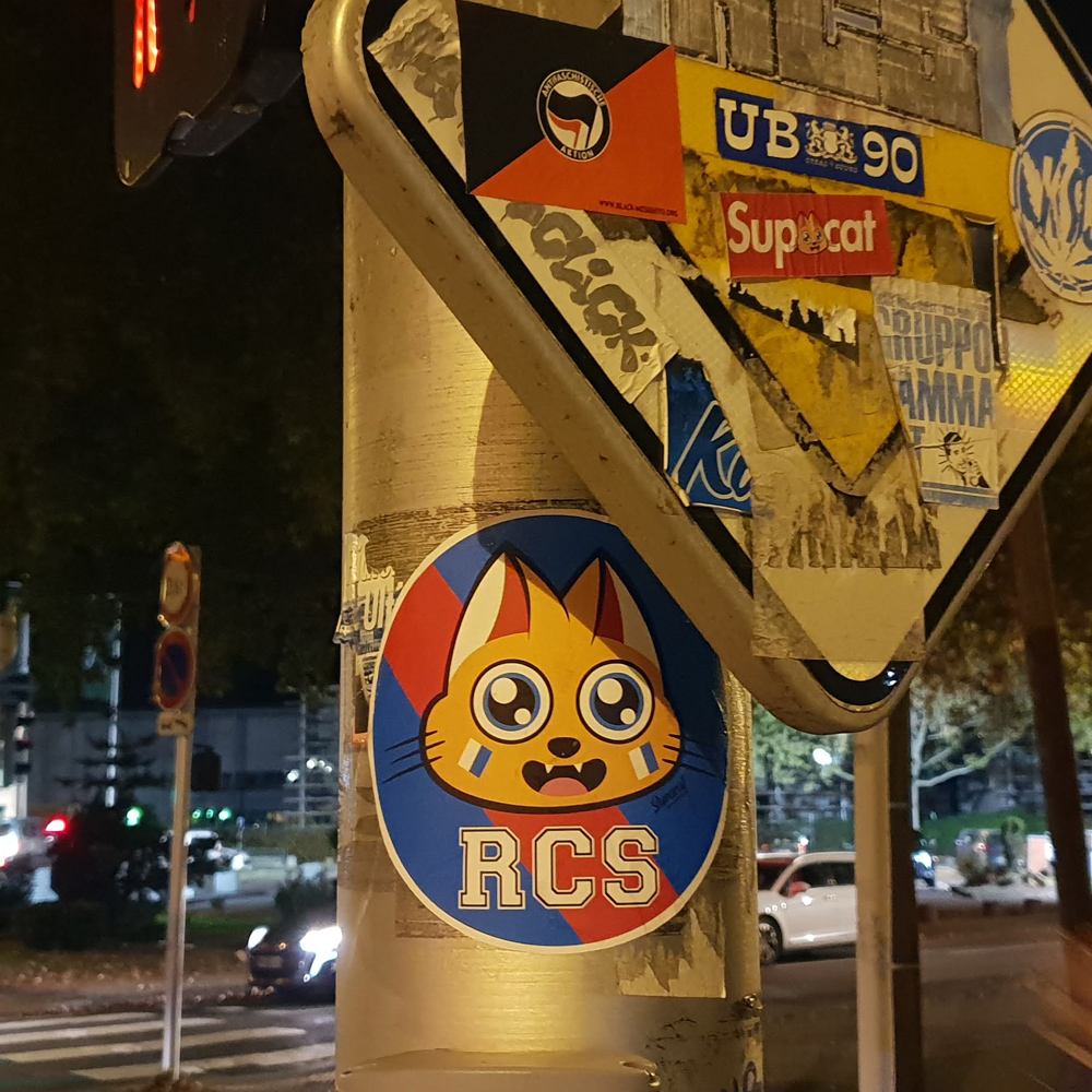 Supacat Street Art Strasbourg - Supa Racing Club de Strasbourg Cat