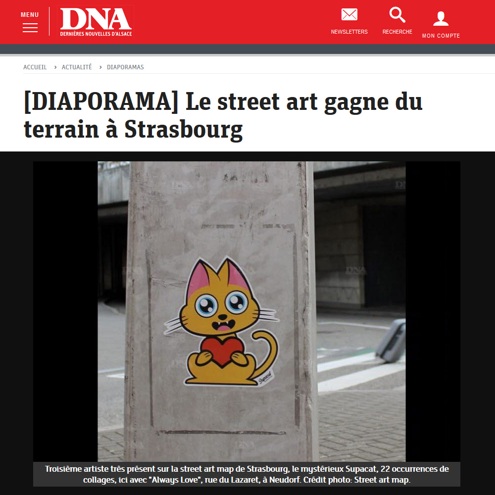 Supacat Street Art dans les DNA avril 2019 - Supacat Street Art