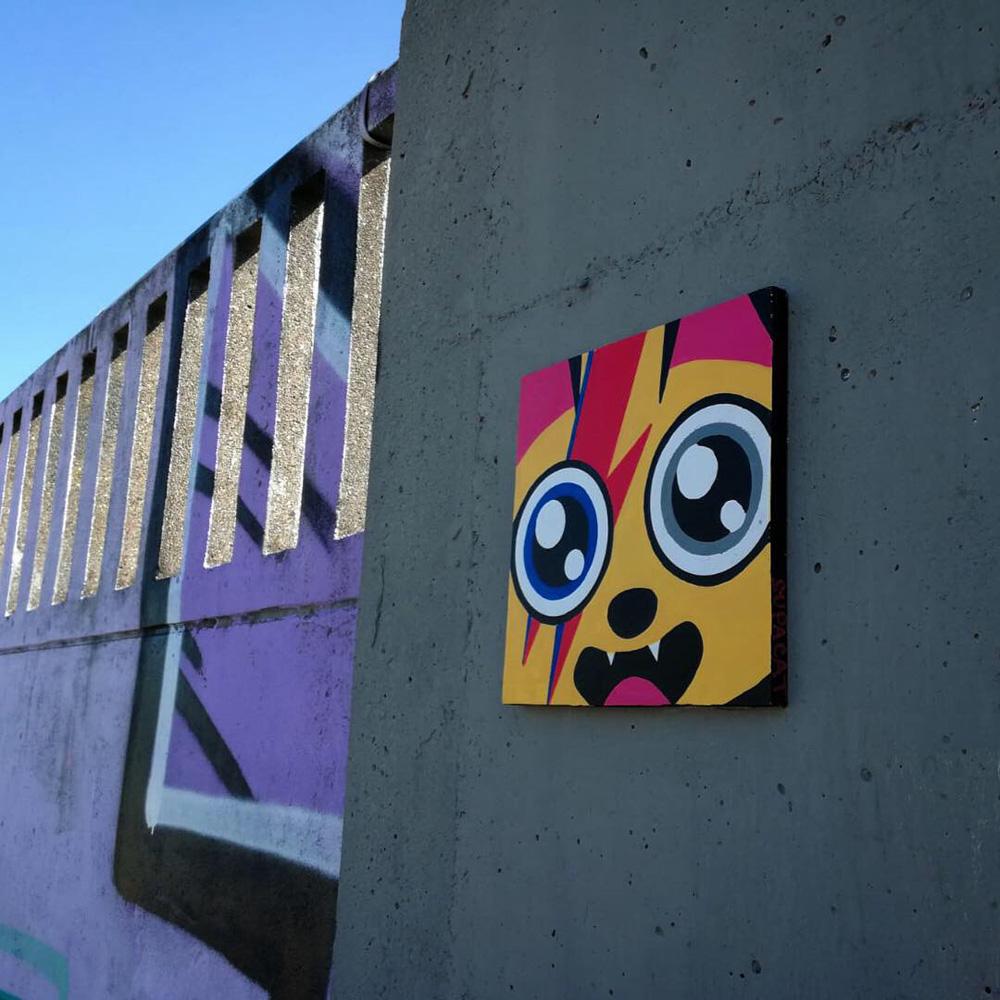 Supacat Street Art Strasbourg - Piece of SUPA #1