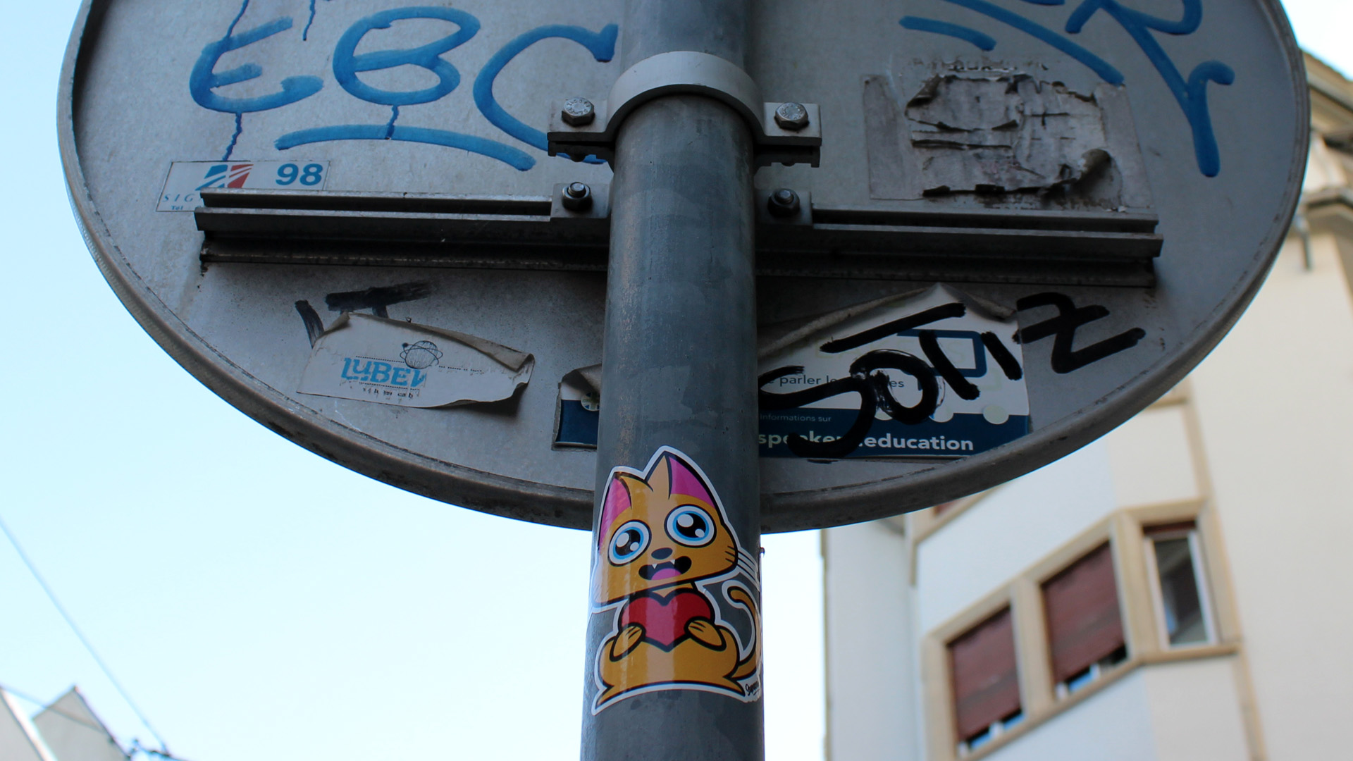 Supacat Street Art Strasbourg - Always LOVE Stickers