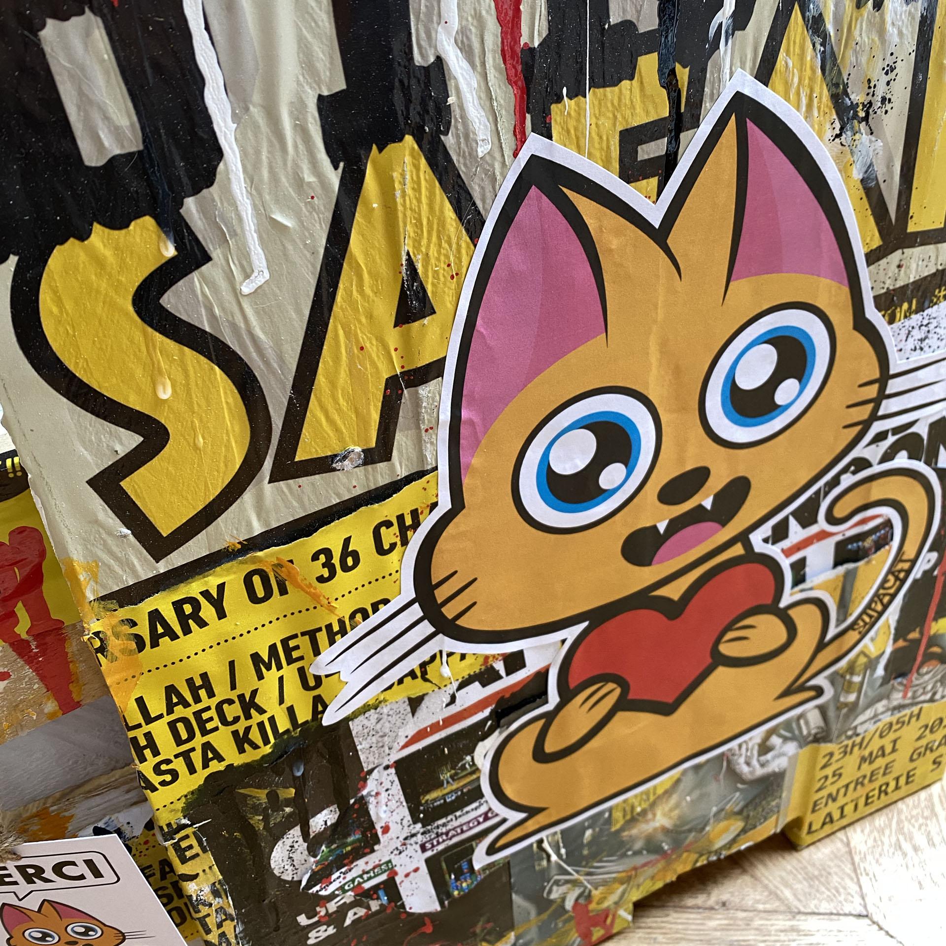 Supacat Street Art Strasbourg - Tableau Dirty Safari