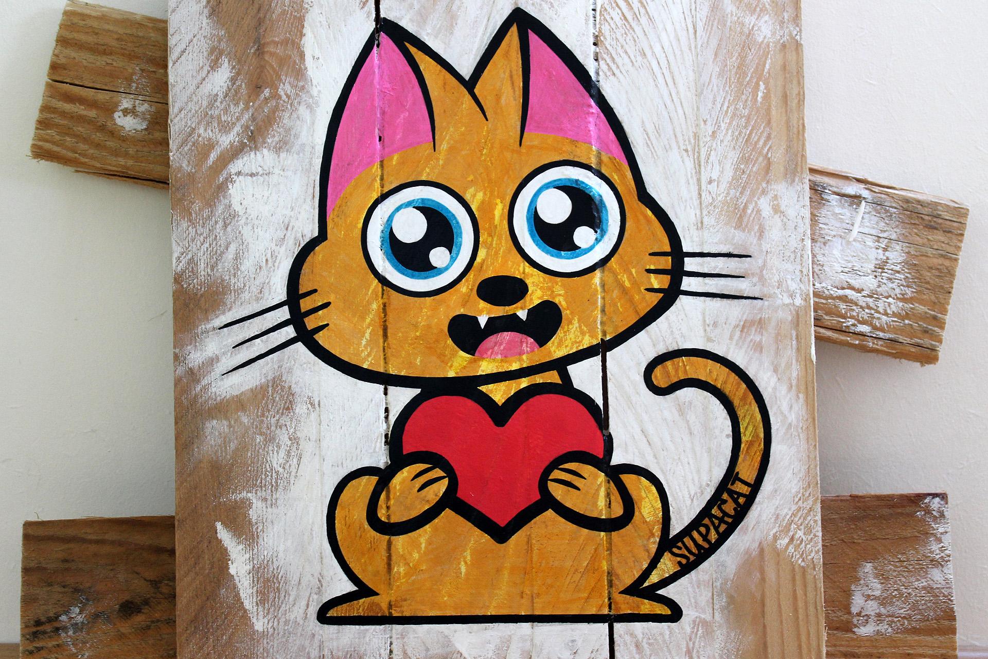 Supacat Street Art Strasbourg - Tableau Always Love #8