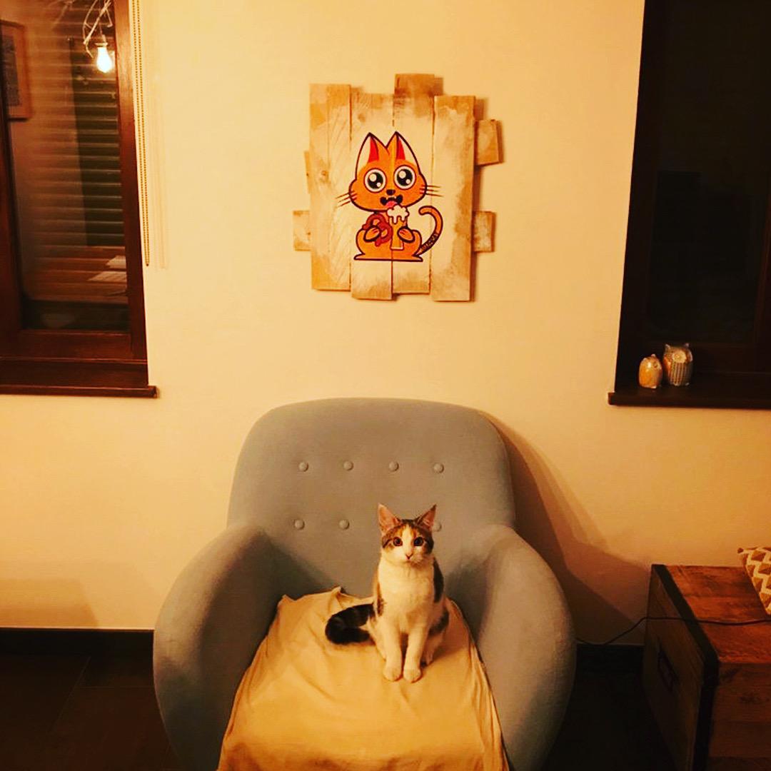 Supacat Street Art Strasbourg - Tableau Elsass Cat #1