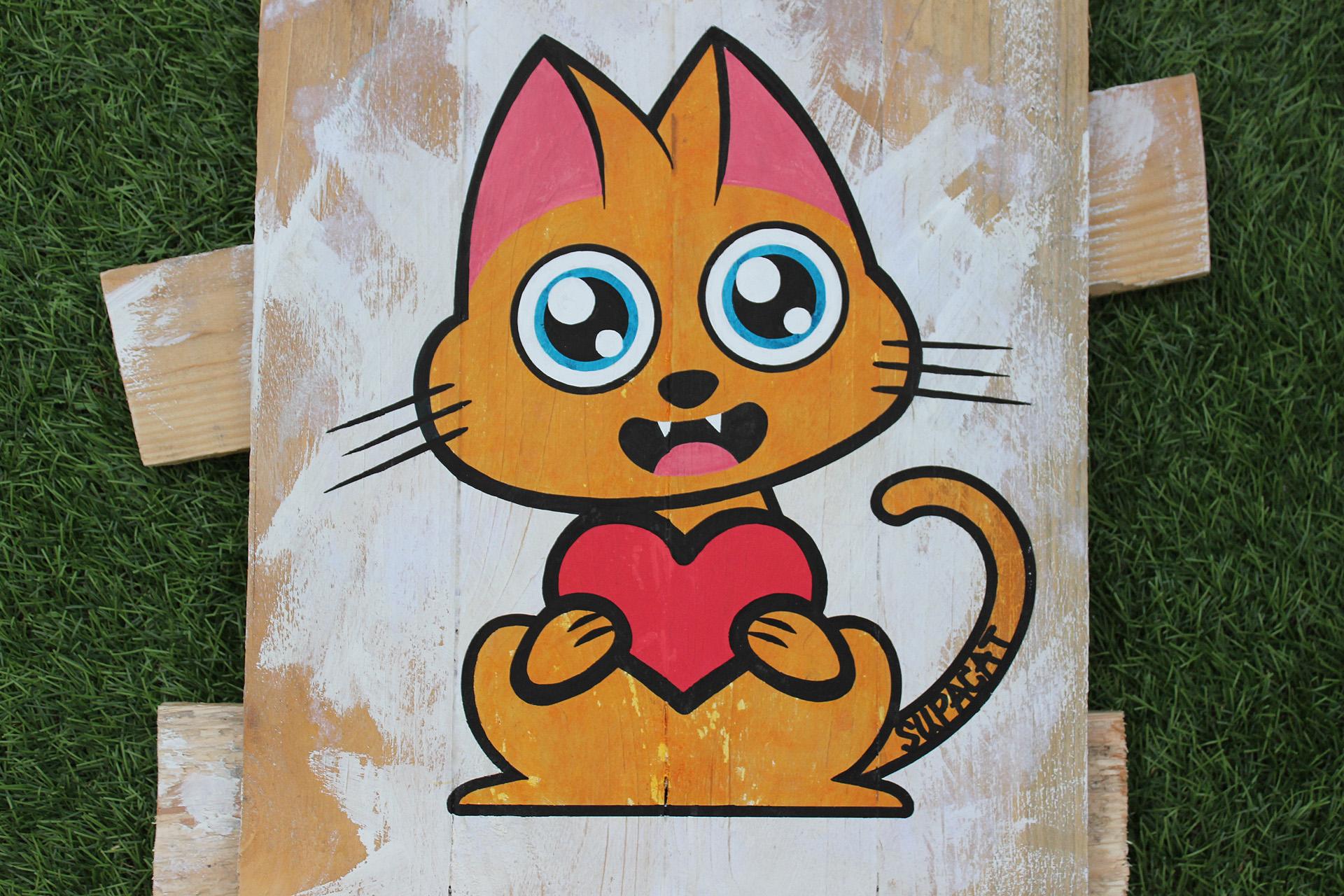 Supacat Street Art Strasbourg - Tableau Always Love #13