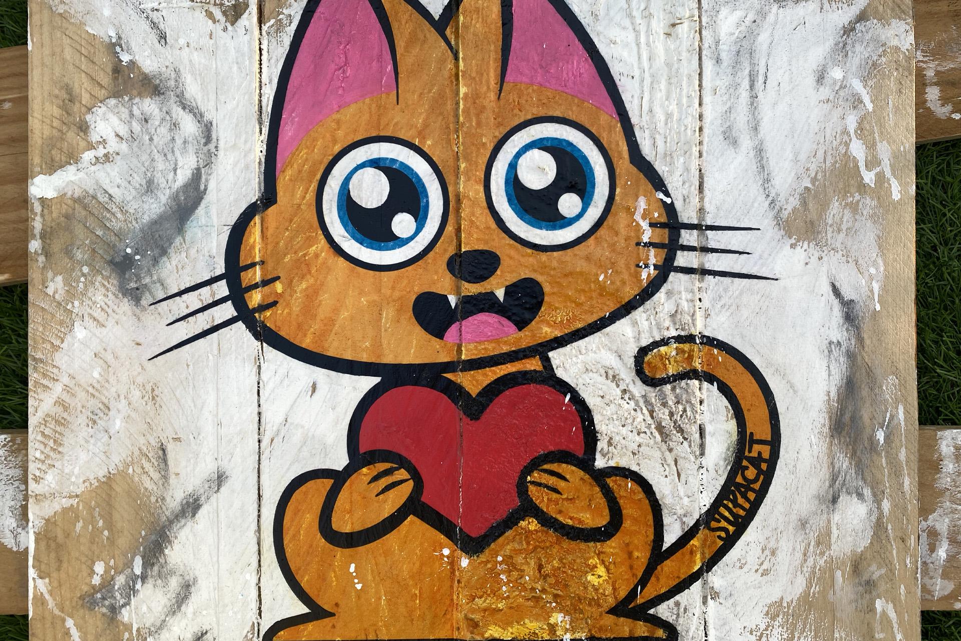 Supacat Street Art Strasbourg - Tableau Always Love #15