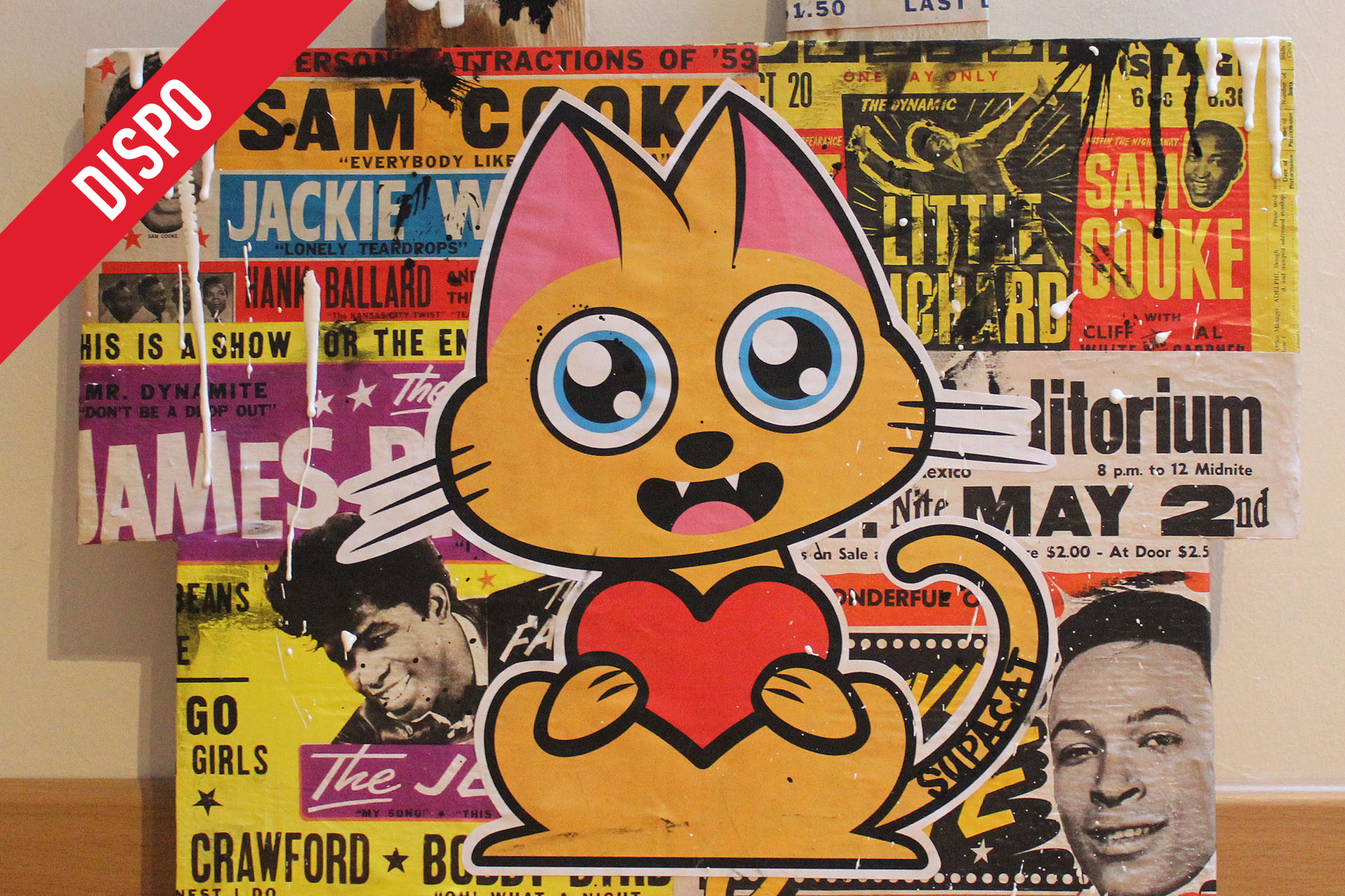 Supacat Street Art Strasbourg - The Love Cat feat. James, Marvin & Sam