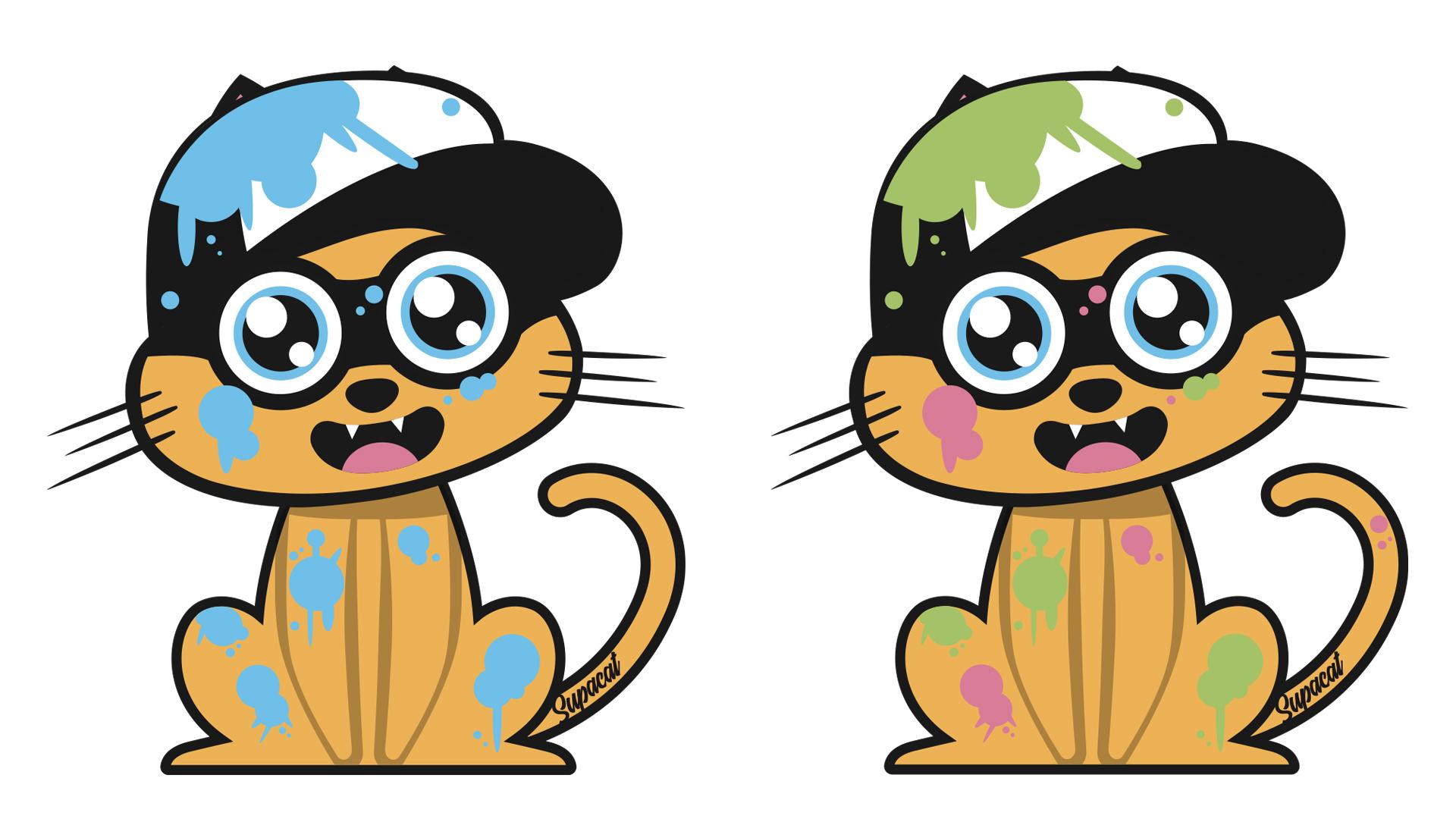 Supacat Street Art Strasbourg - Splatoon Cat