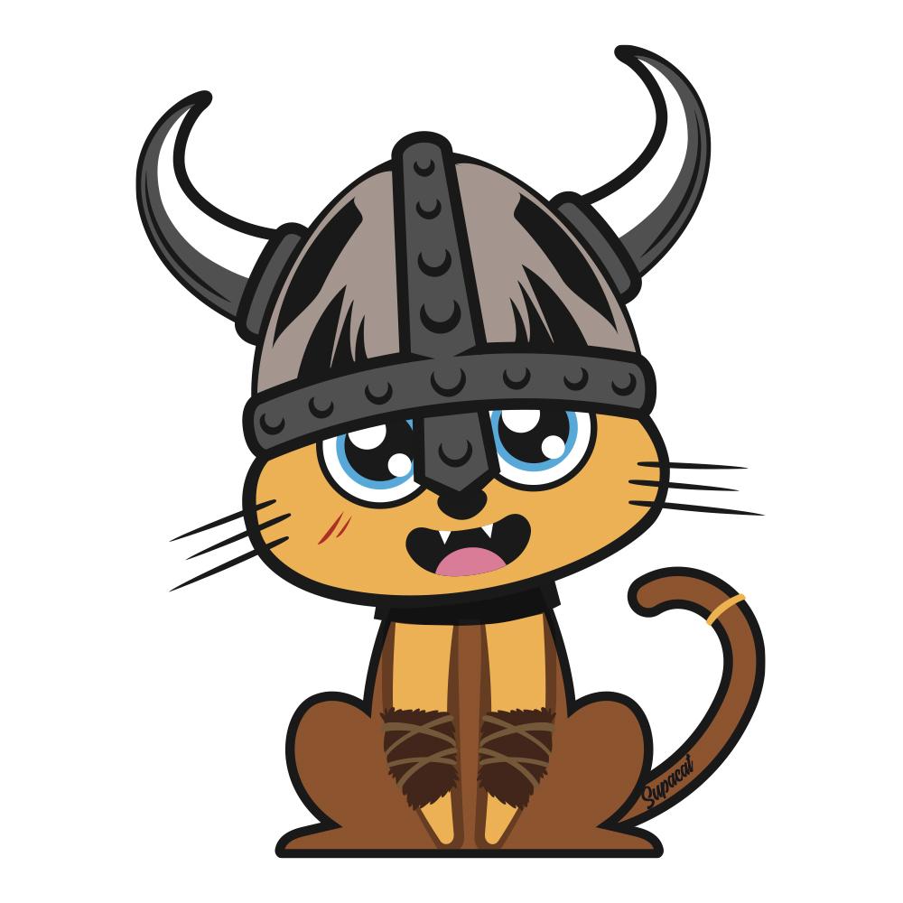 Supacat Street Art Strasbourg - The Viking Cat