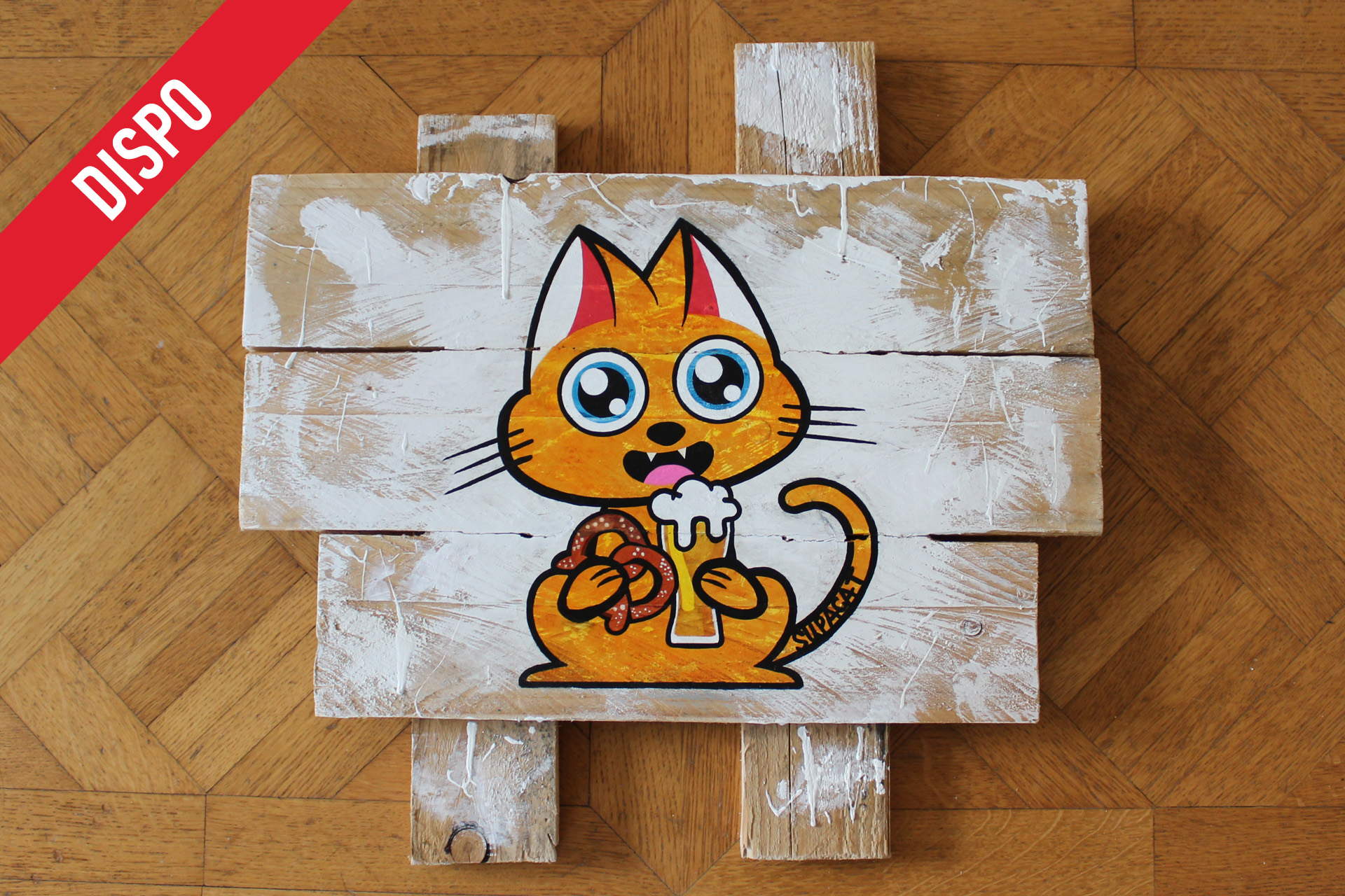 Supacat Street Art Strasbourg - Tableau Elsass Cat #3