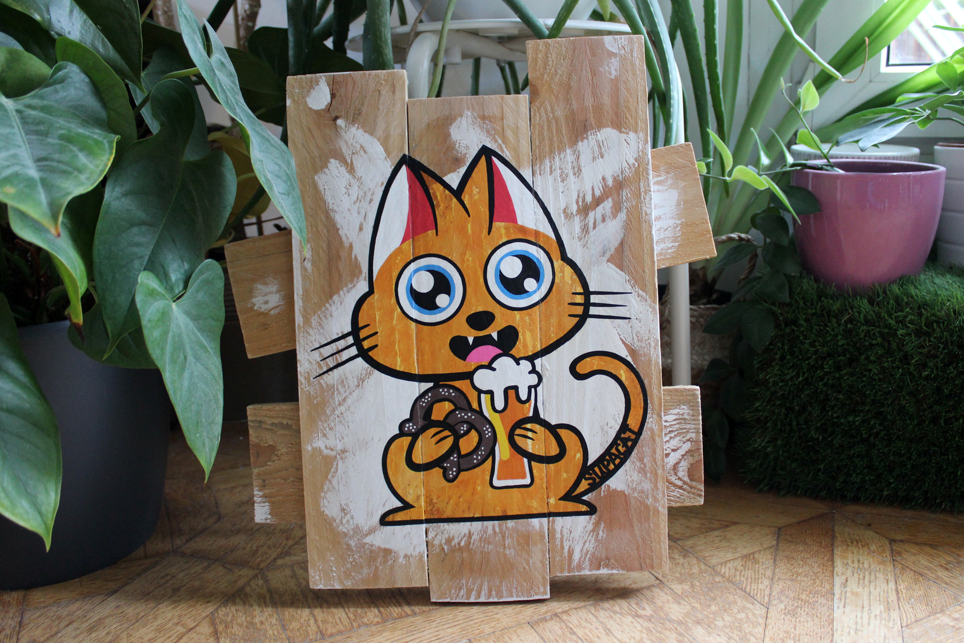 Supacat Street Art Strasbourg - Tableau Elsass Cat #5