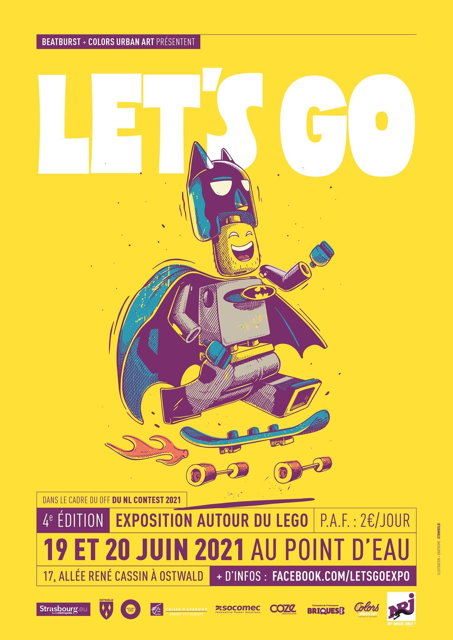 Expo LEGO Let's Go 2021 à Ostwald - Supacat Street Art Strasbourg