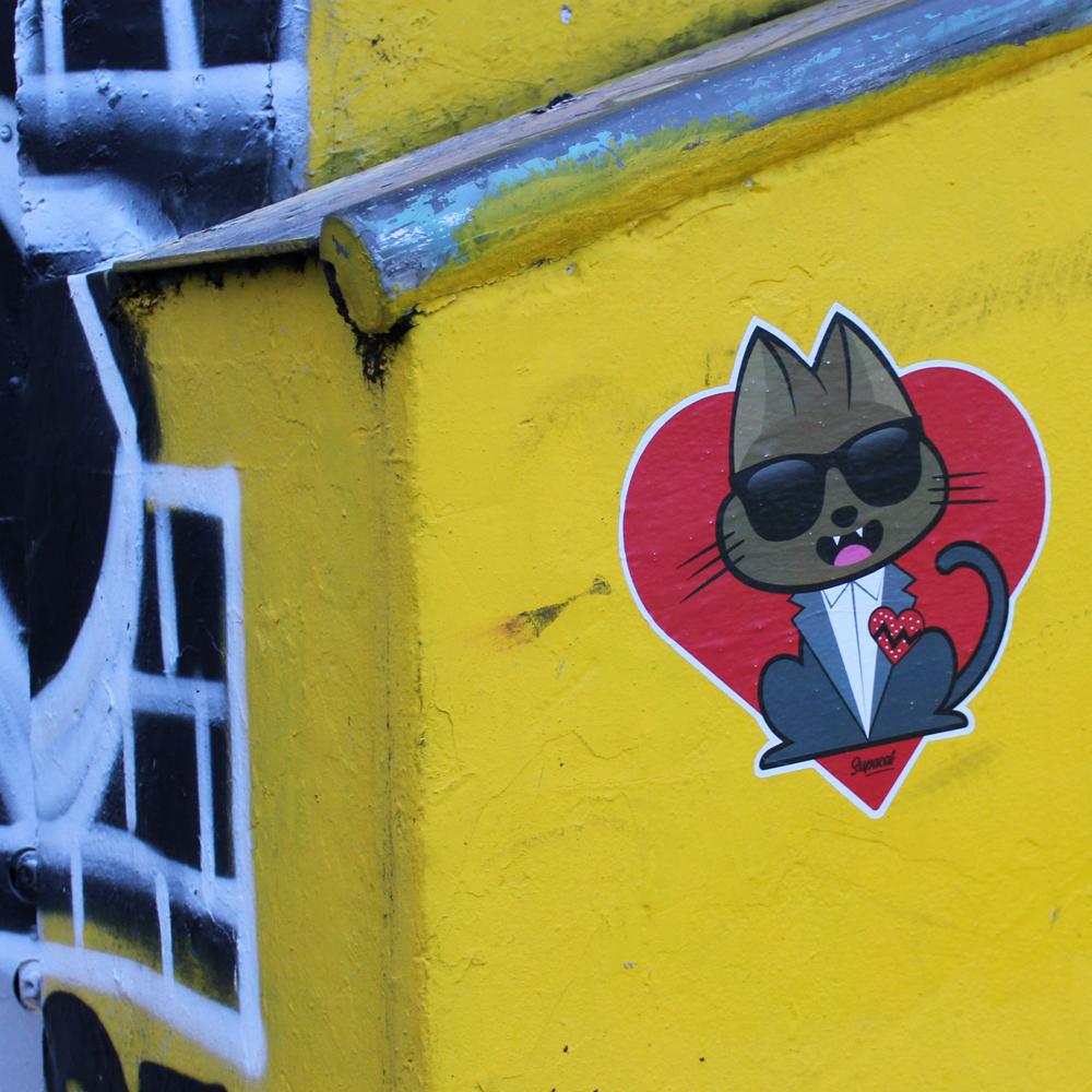 Supa K.West 808s & Heartbreak - Supacat Street Art à Strasbourg