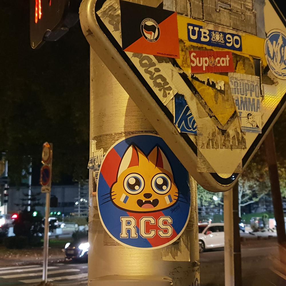Supacat Street Art Strasbourg - Supa Racing Club de Strasbourg Cat