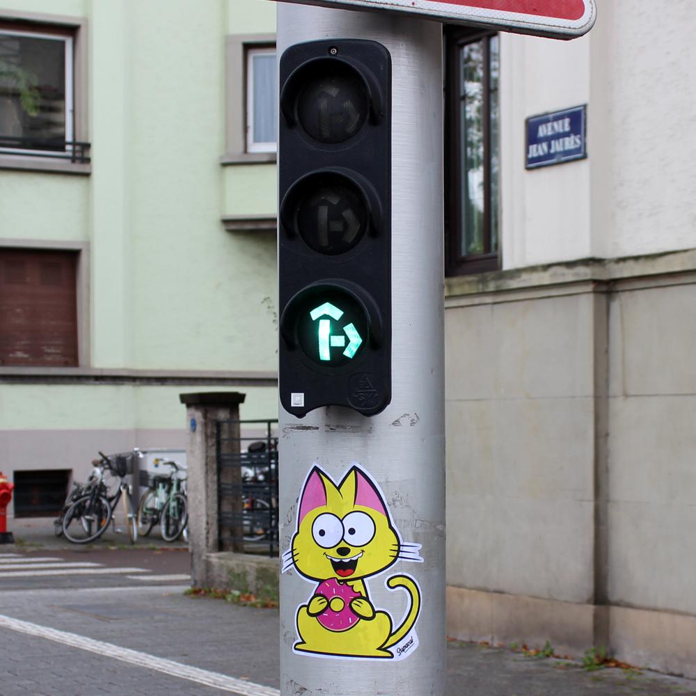 Supacat Strasbourg Simpson Style - Supacat Street Art à Strasbourg