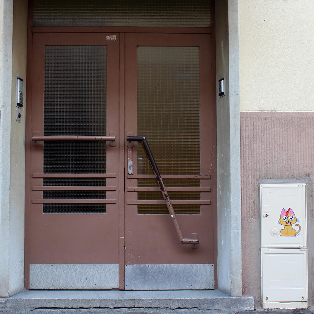 Supacat Street Art Strasbourg - Ziggy Catdust