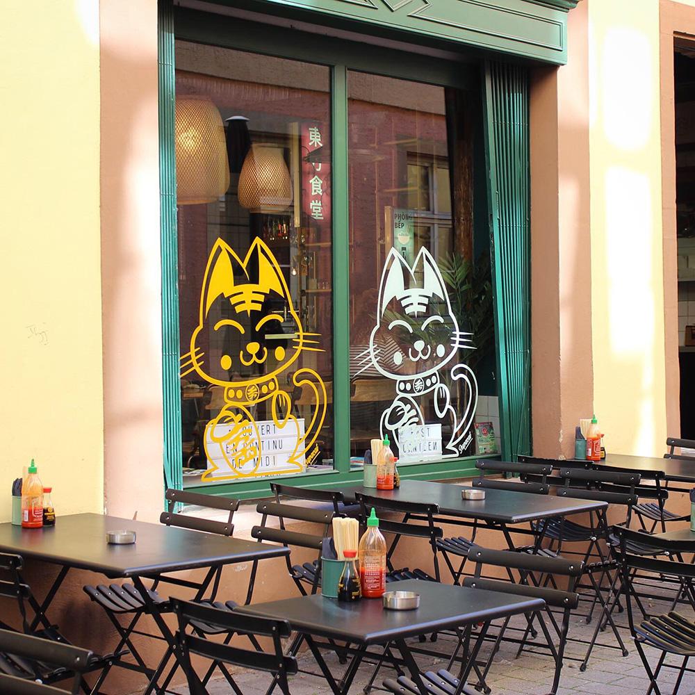 Supacat, le chat Street Art de Strasbourg au East Canteen - Supacat
