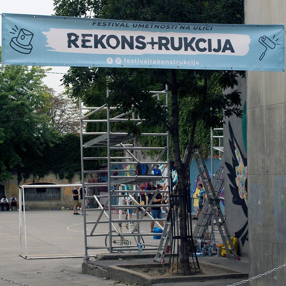 Festival Rekonstrukcija 2019, festival street-art à Belgrade - Supacat Street Art