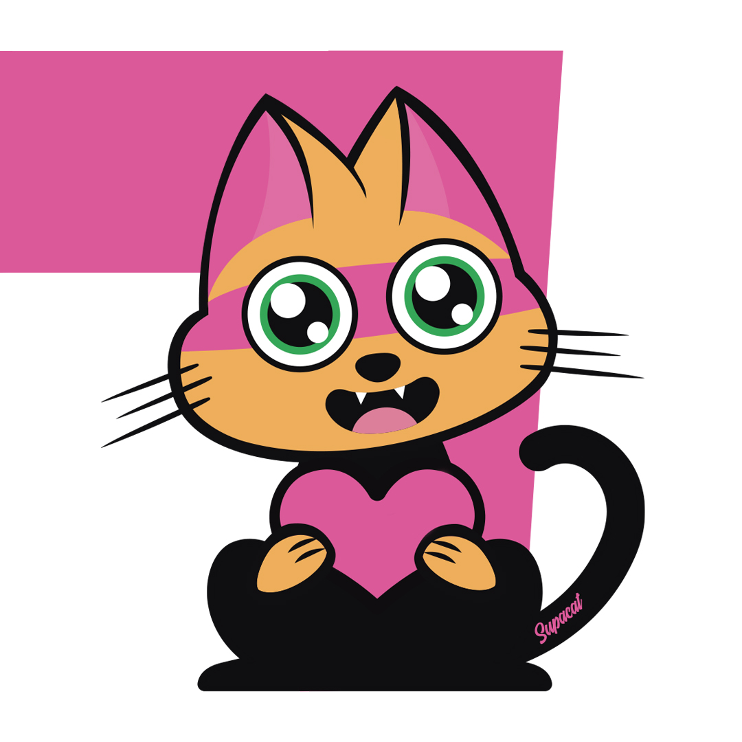 Supacat street-art - Supa Shirley Manson Cat