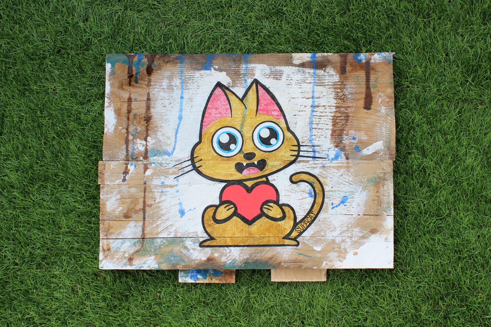 Supacat Street Art Strasbourg - Tableau Always Love Mini