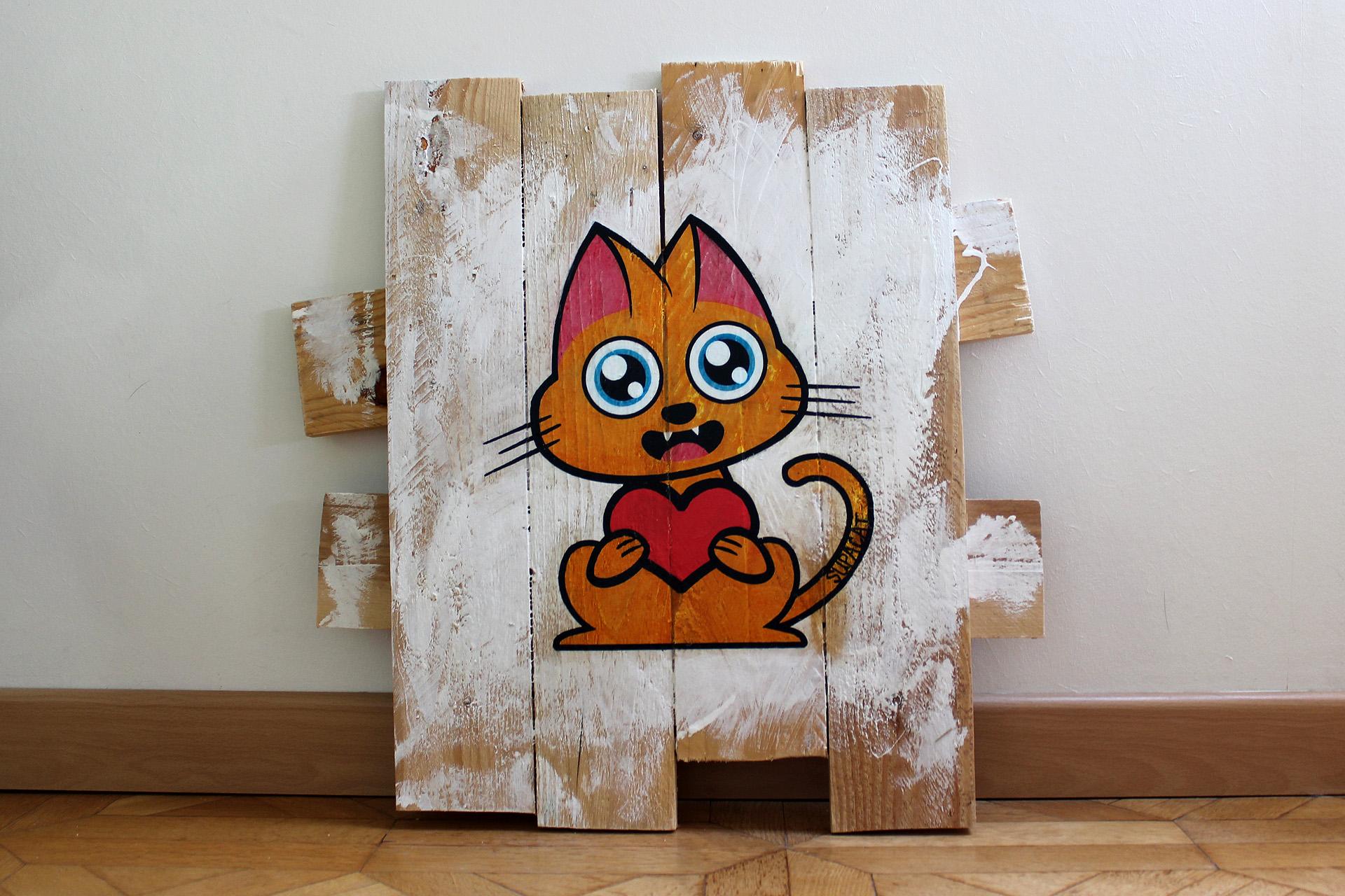 Supacat Street Art Strasbourg - Tableau Always Love #6