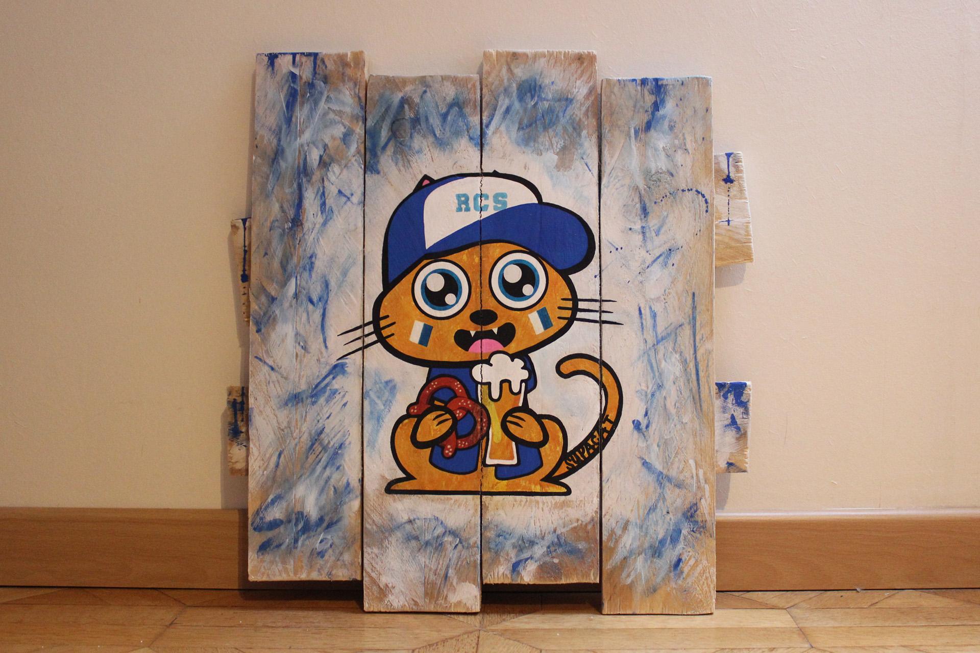 Supacat Street Art Strasbourg - Tableau RSC Cat #1