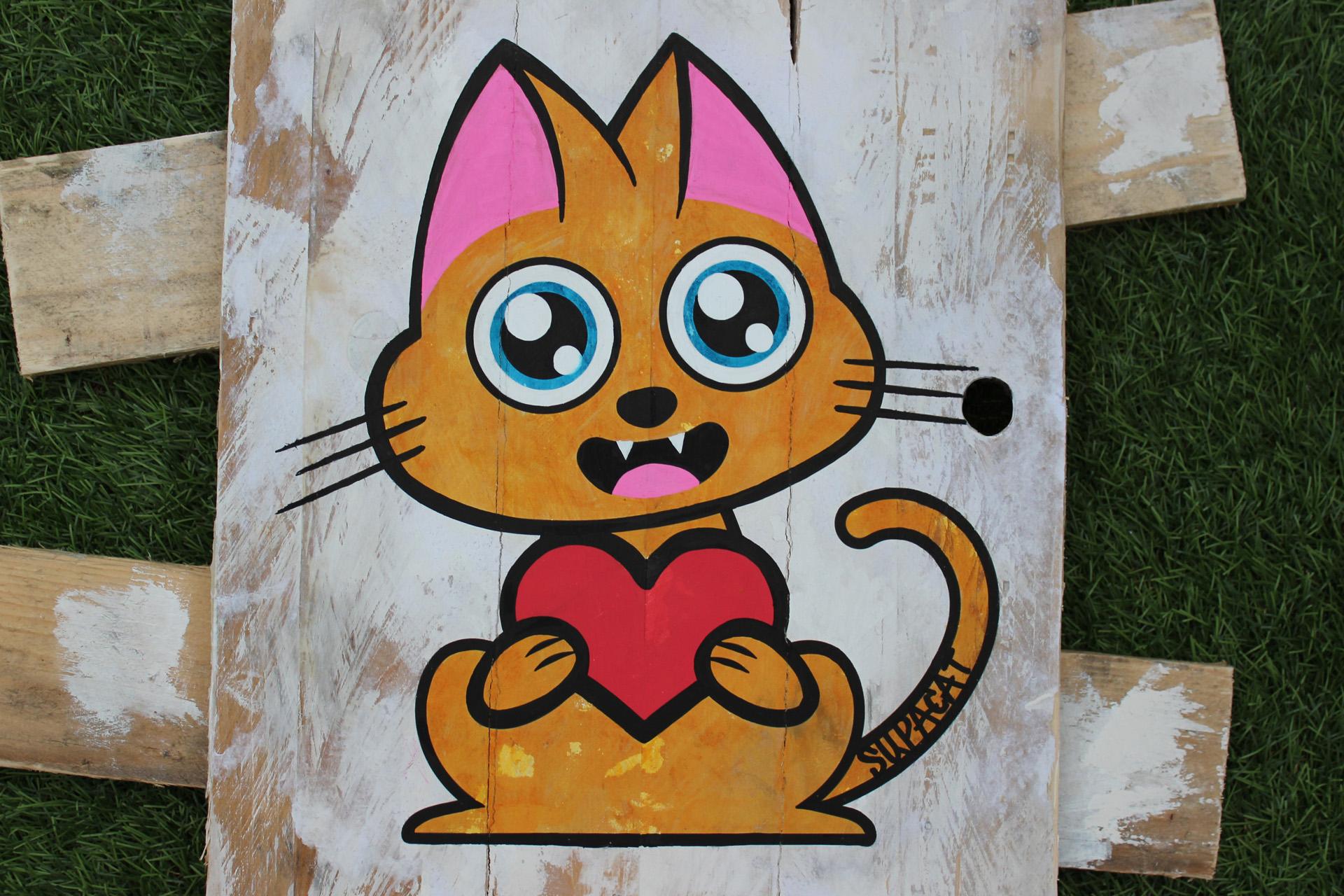 Supacat Street Art Strasbourg - Tableau Always Love #12