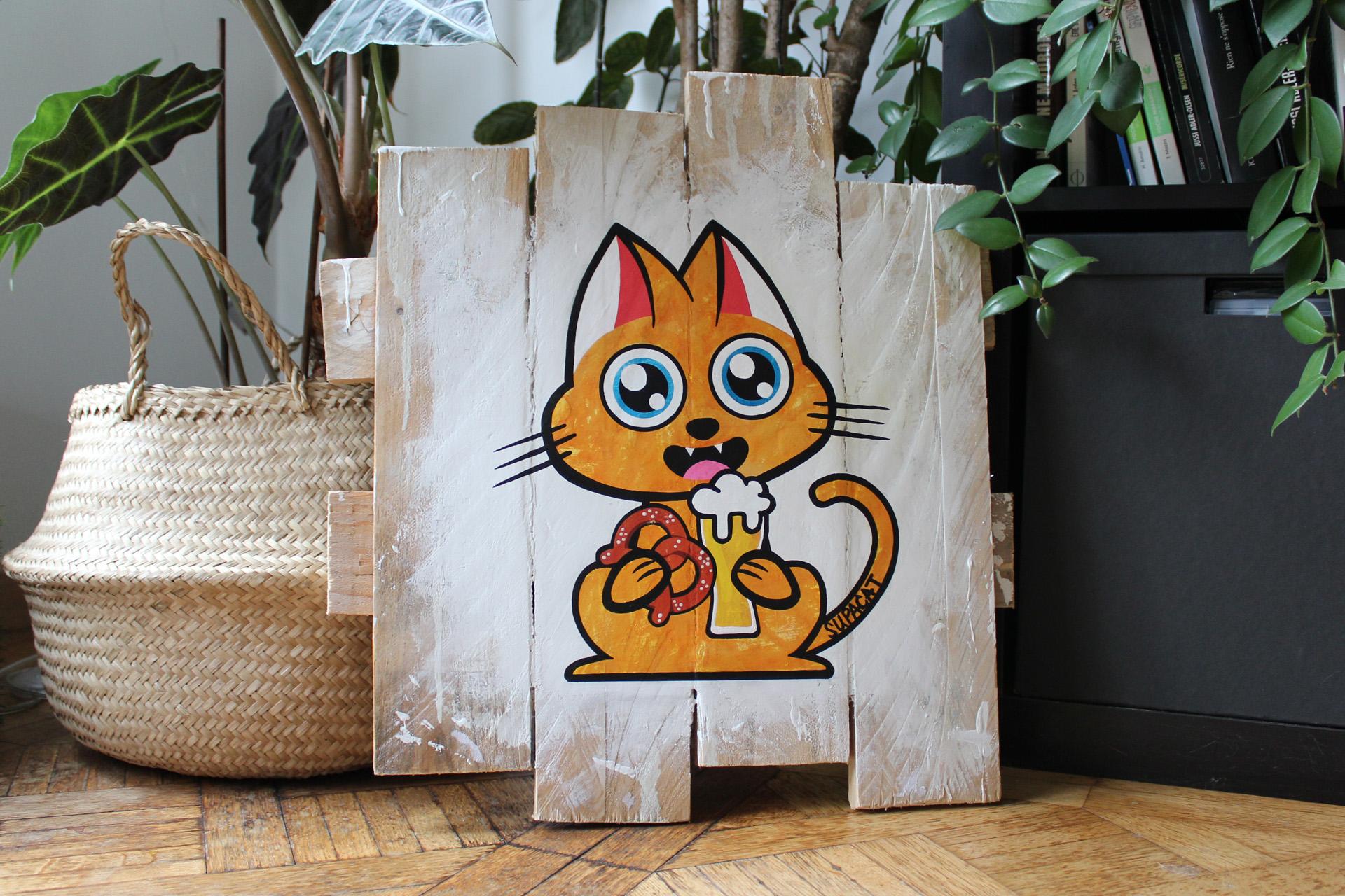 Supacat Street Art Strasbourg - Tableau Elsass Cat #2