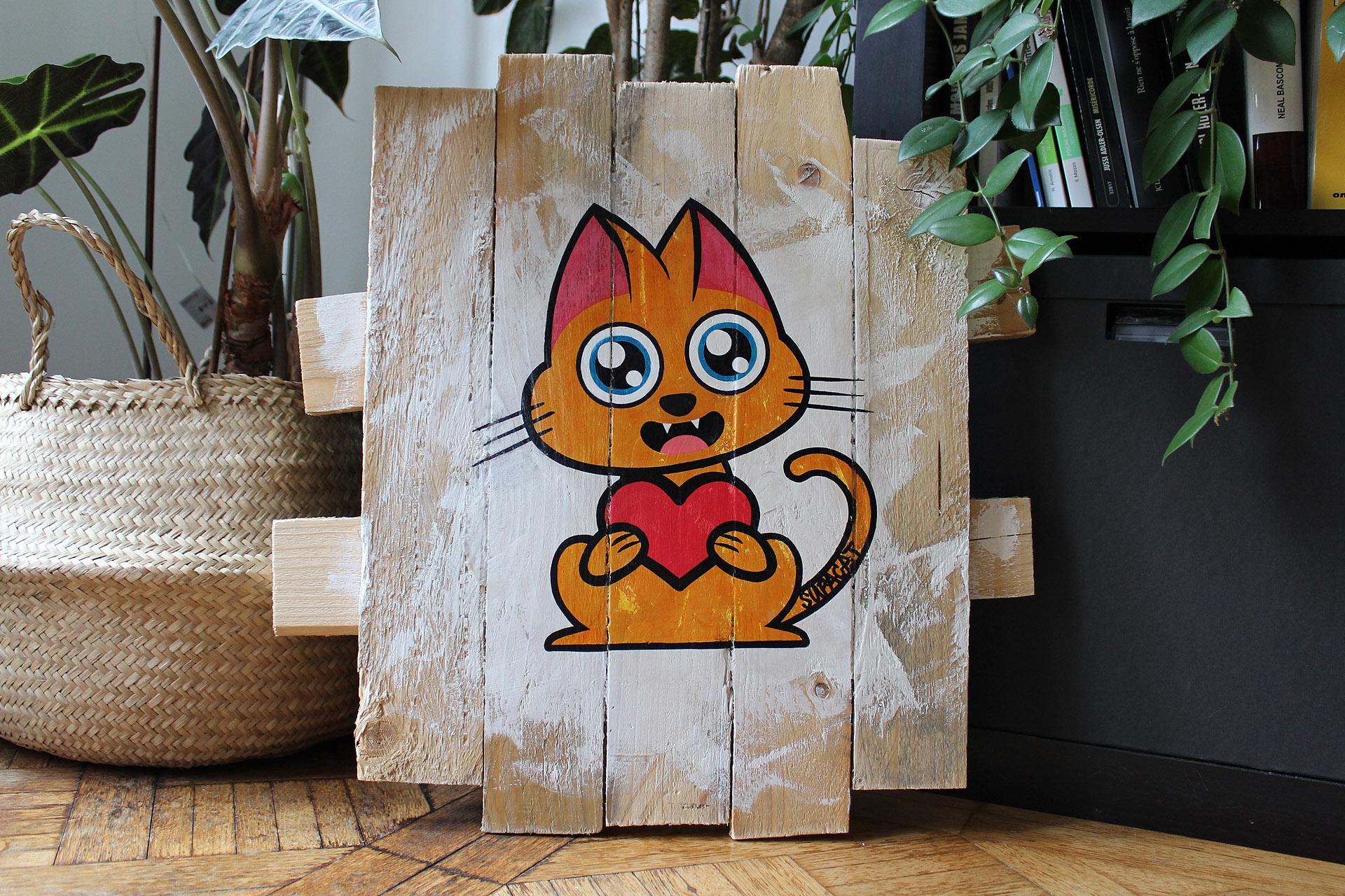 Supacat Street Art Strasbourg - Tableau Always Love #14