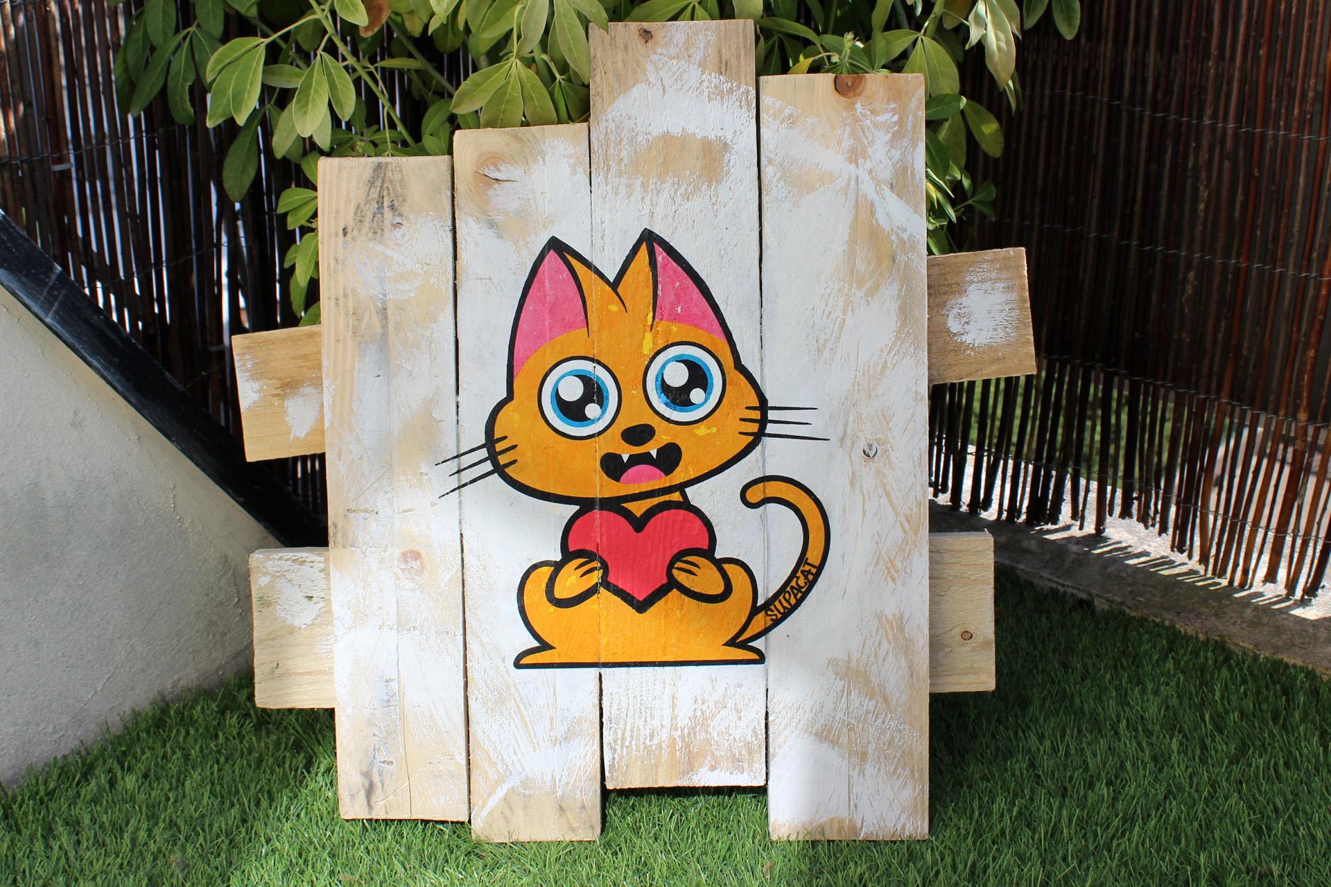 Supacat Street Art Strasbourg - Tableau Always Love #17