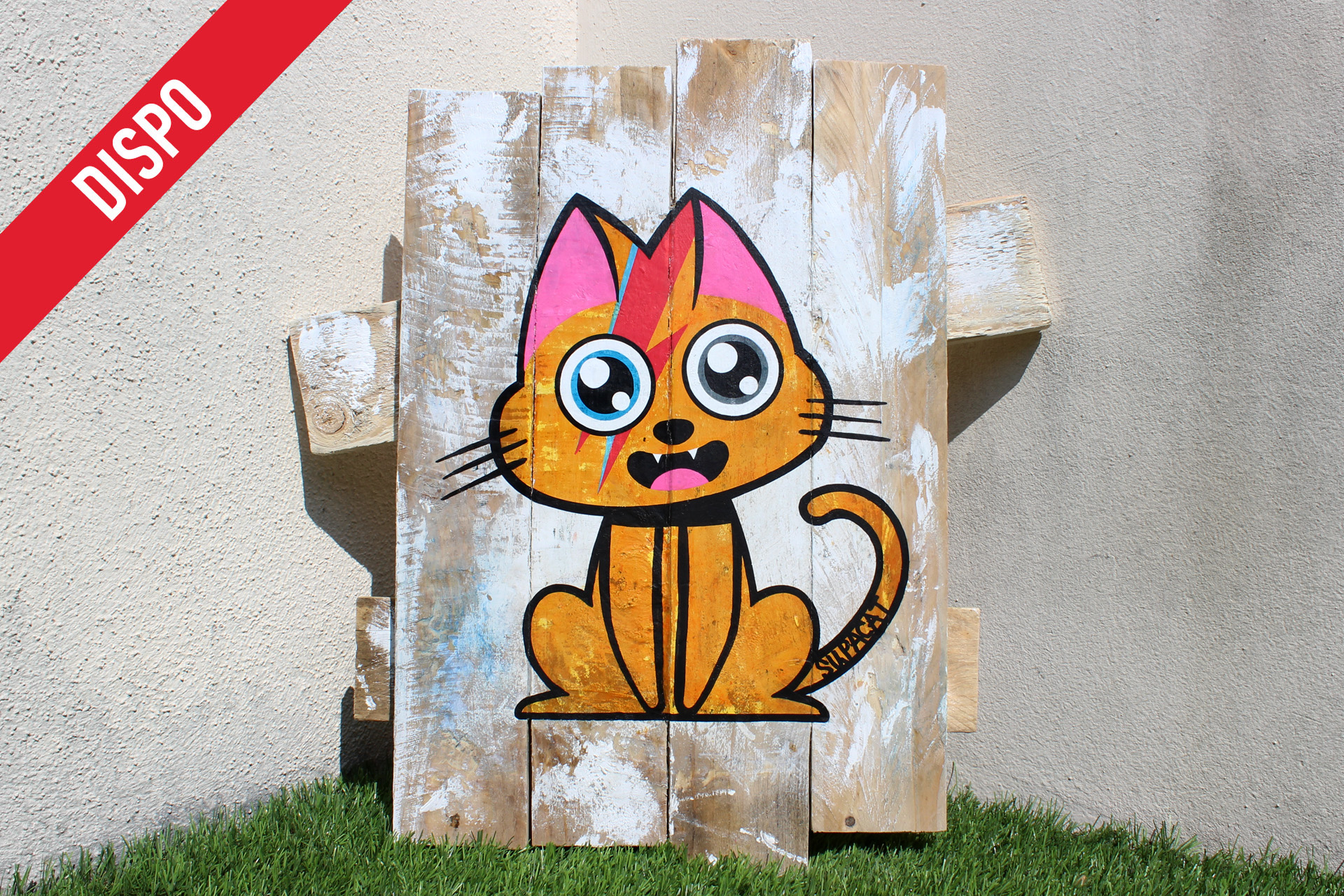 Supacat Street Art Strasbourg - Tableau Ziggy Catdust #2 - Dirty Special