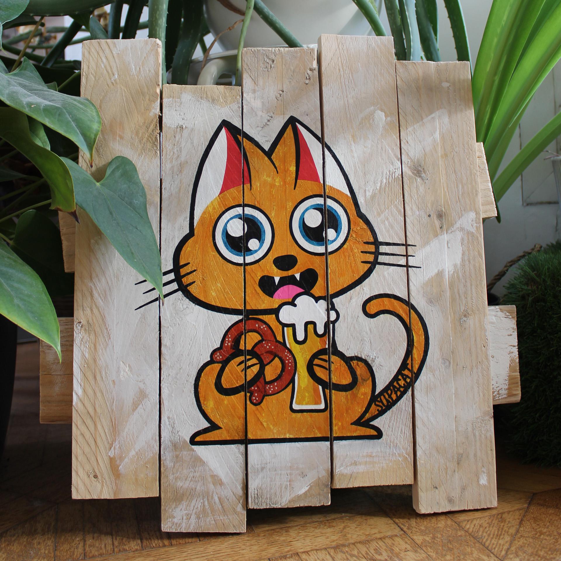 Supacat Street Art Strasbourg - Tableau Elsass Cat #4
